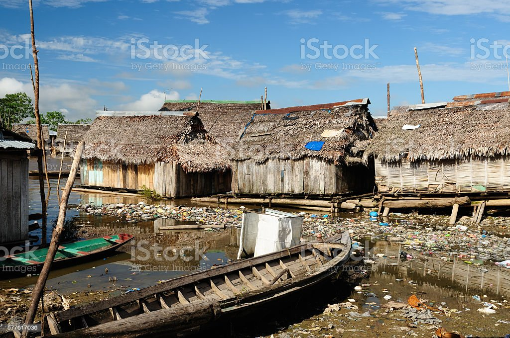 Iquitos in Amazonia stock photo