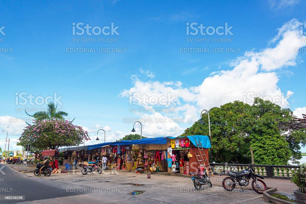 Iquitos Souvenir Stalls stock photo