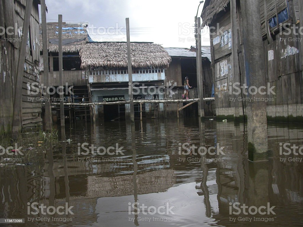 Iquitos Woodens Houses stock photo
