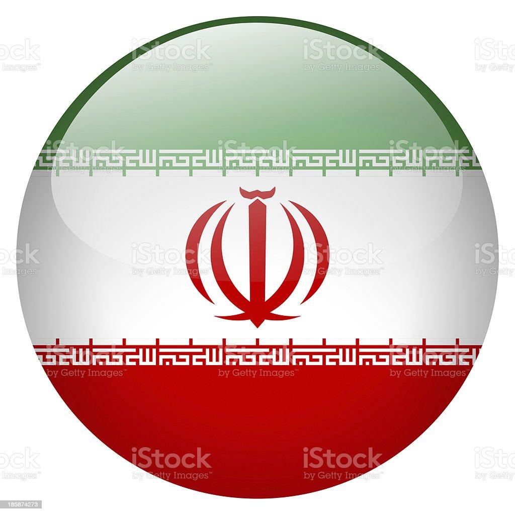 iran button royalty-free stock photo