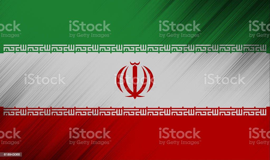 Iran flag stock photo
