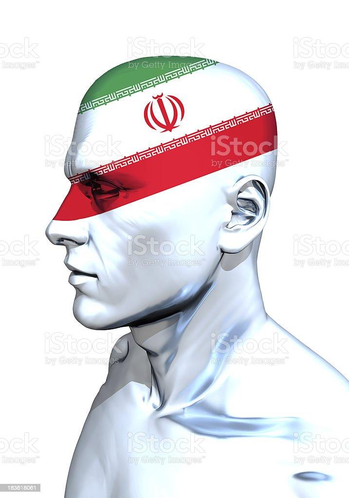 Iran Head stock photo
