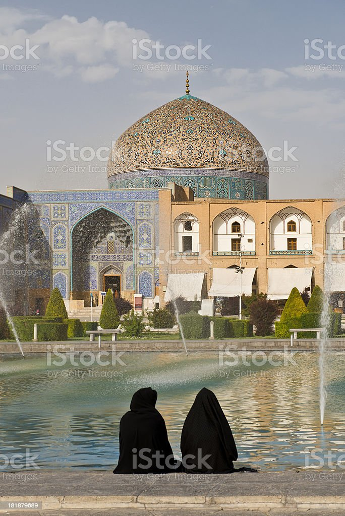 Iran isfahan stock photo