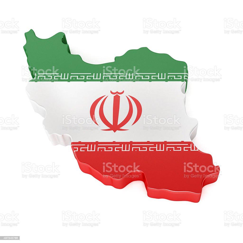 Iran Map stock photo