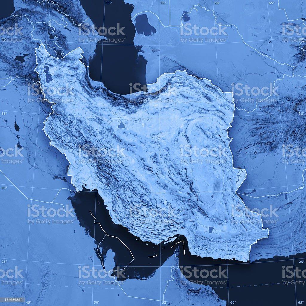 Iran Topographic Map royalty-free stock photo