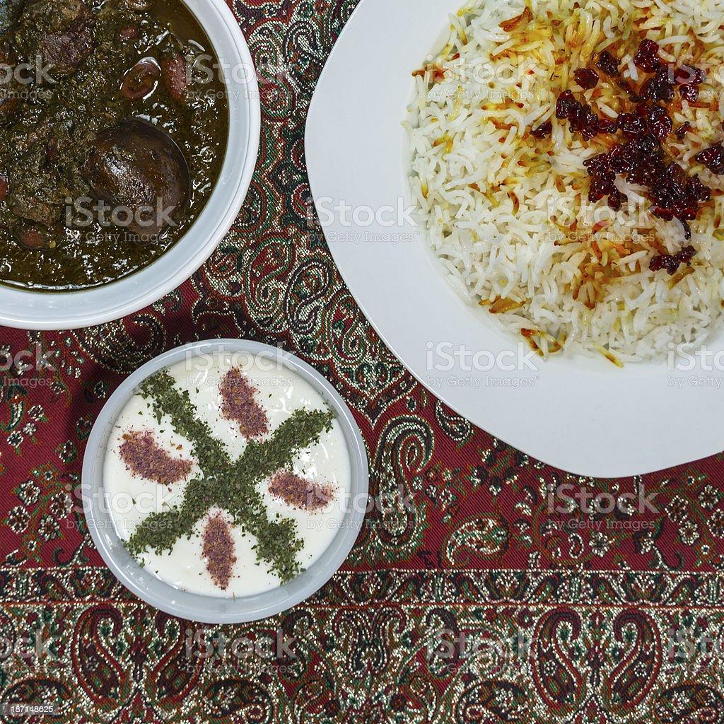 Iranian Dish stock photo