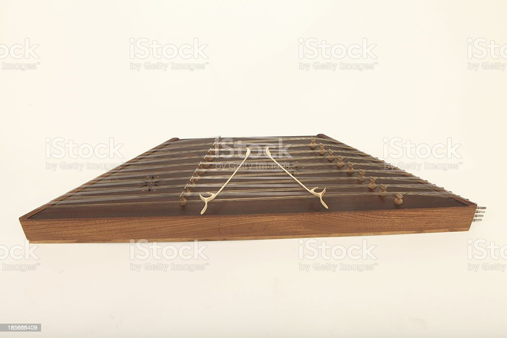Iranian dulcimer musical instrument stock photo