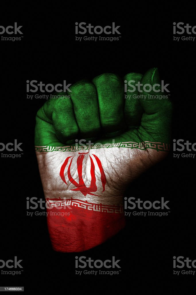 Iranian Fist royalty-free stock photo