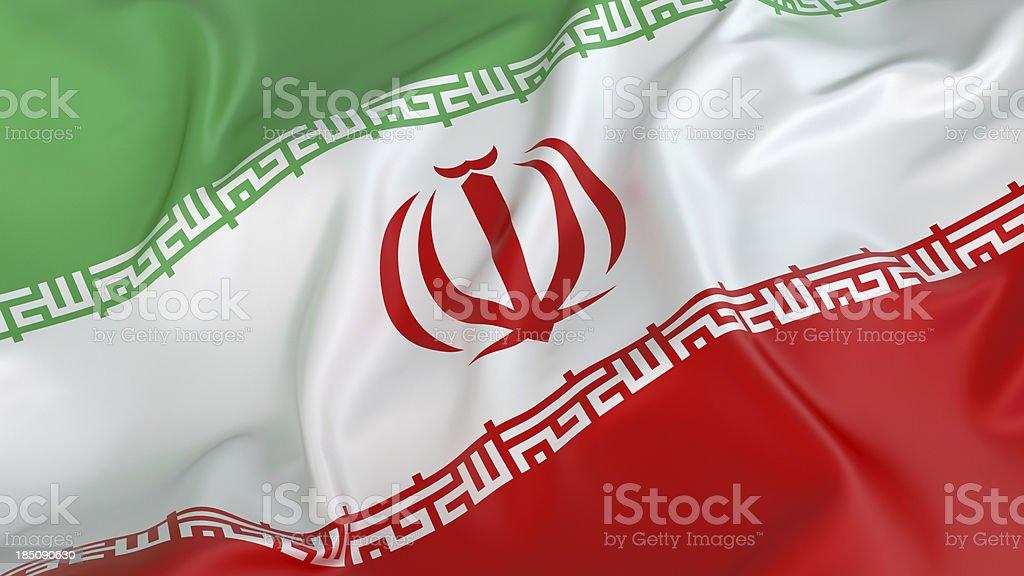 Iranian Flag royalty-free stock photo