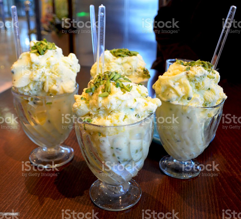 Iranian ice-cream stock photo