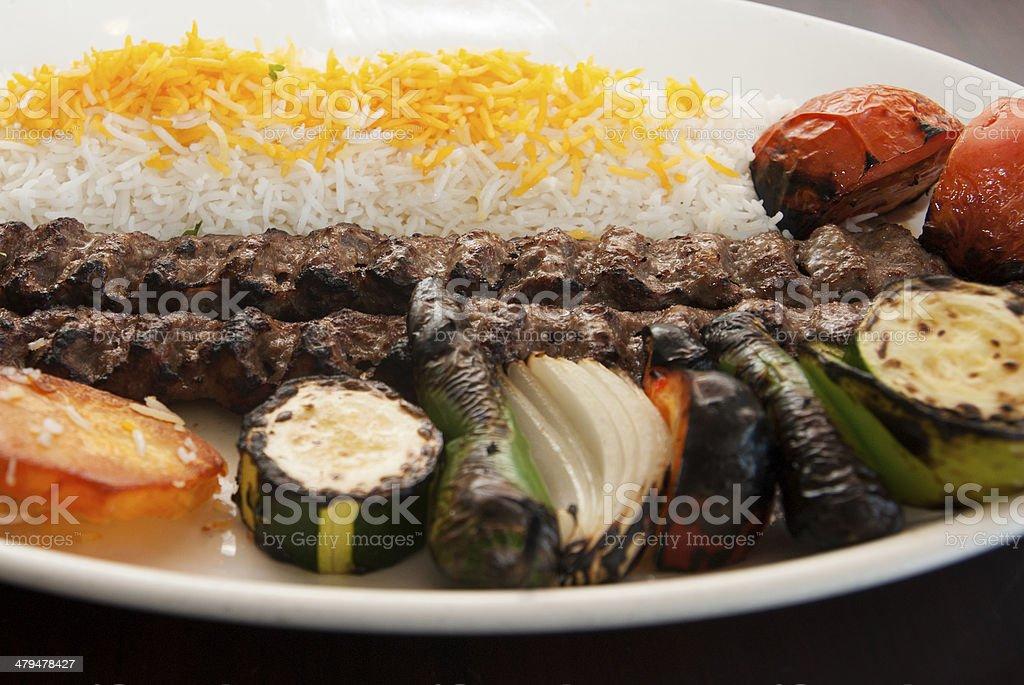 Iranian Kebab stock photo