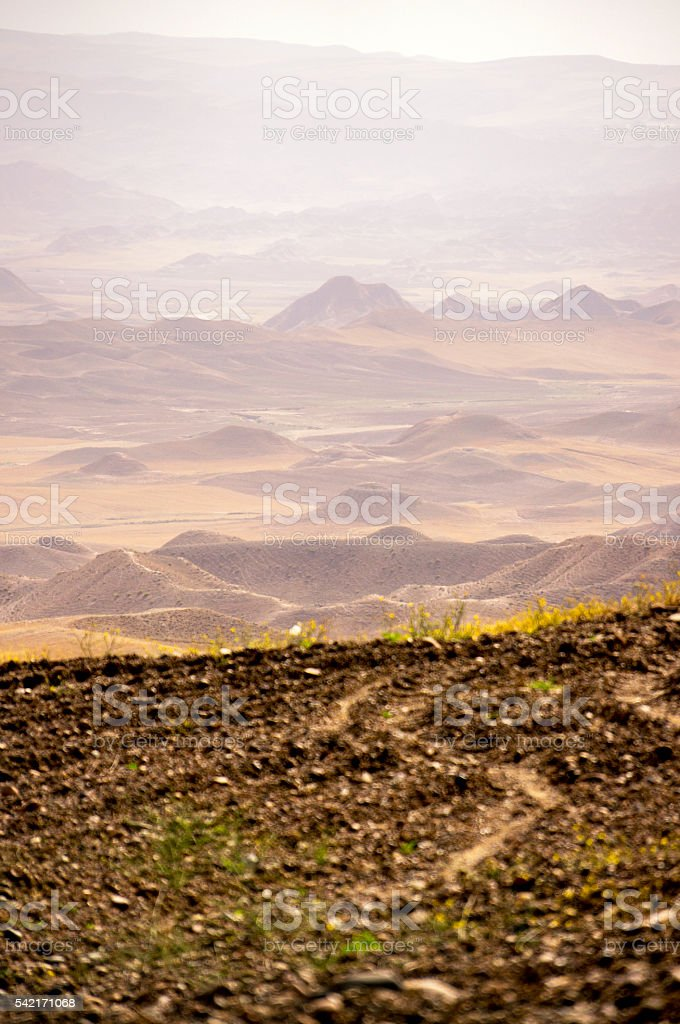 Iranian mountains view from the top stock photo