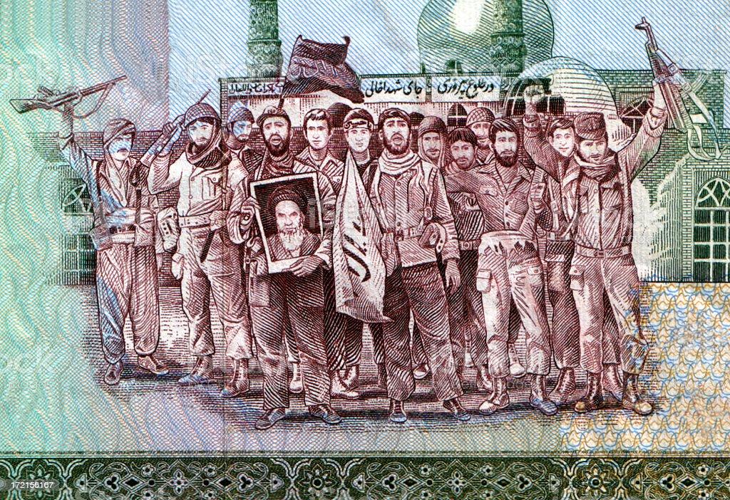 Iranian Revolutionaries royalty-free stock photo