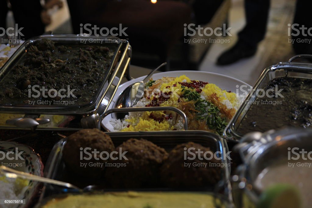 Iranian rice stock photo