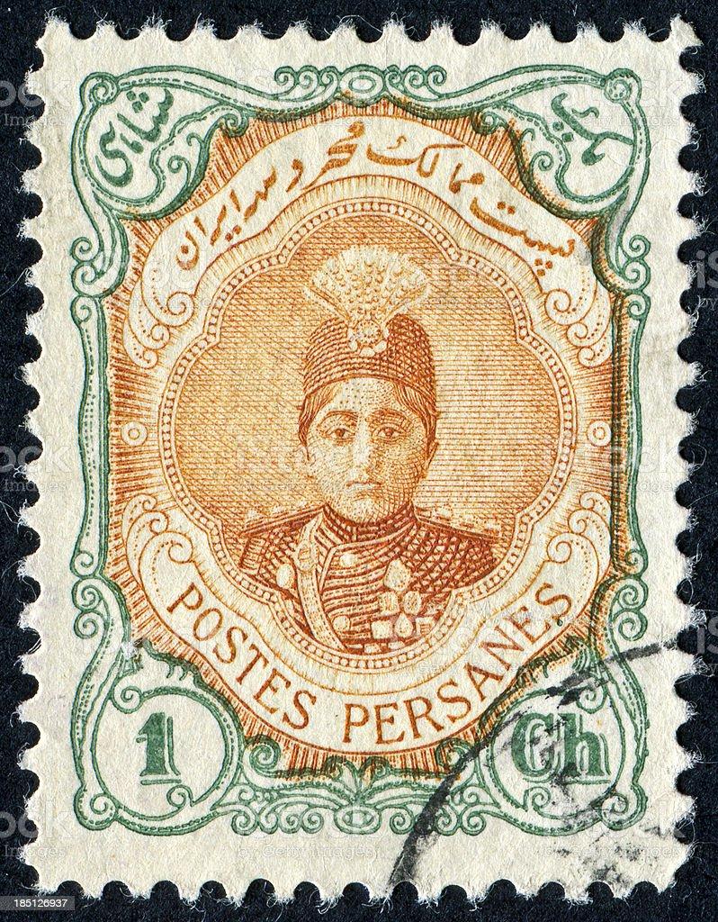 Iranian Stamp stock photo
