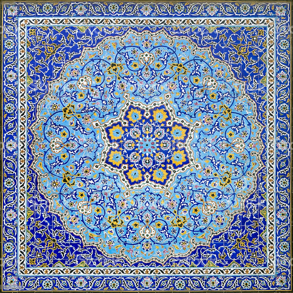 Iranian Tile Decor stock photo