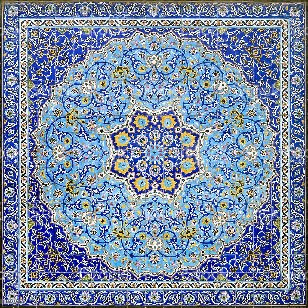 Iranian Tile Decor stock photo