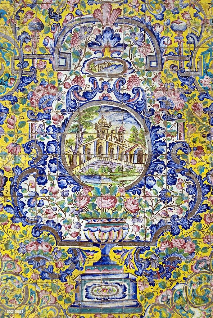 Iranian Tile Decor royalty-free stock photo