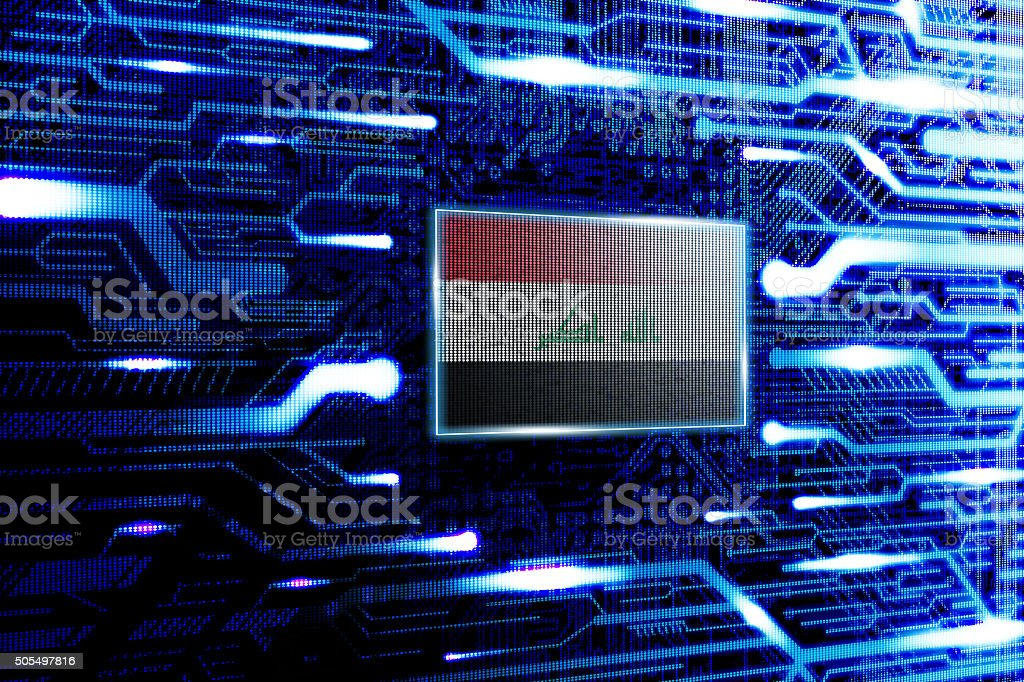Iraq, Baghdad national official state flag stock photo