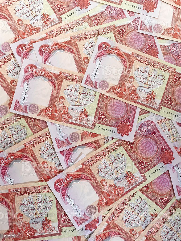 Iraq Currency stock photo