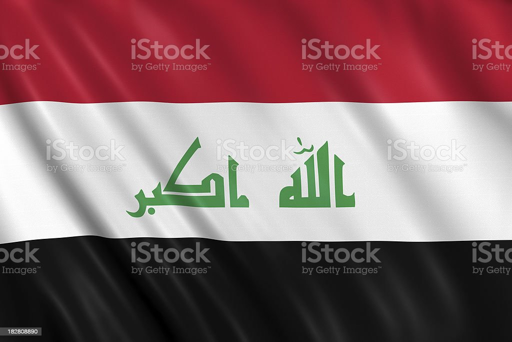 iraq flag stock photo