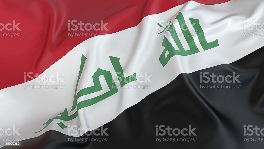 Iraq Flag royalty-free stock photo
