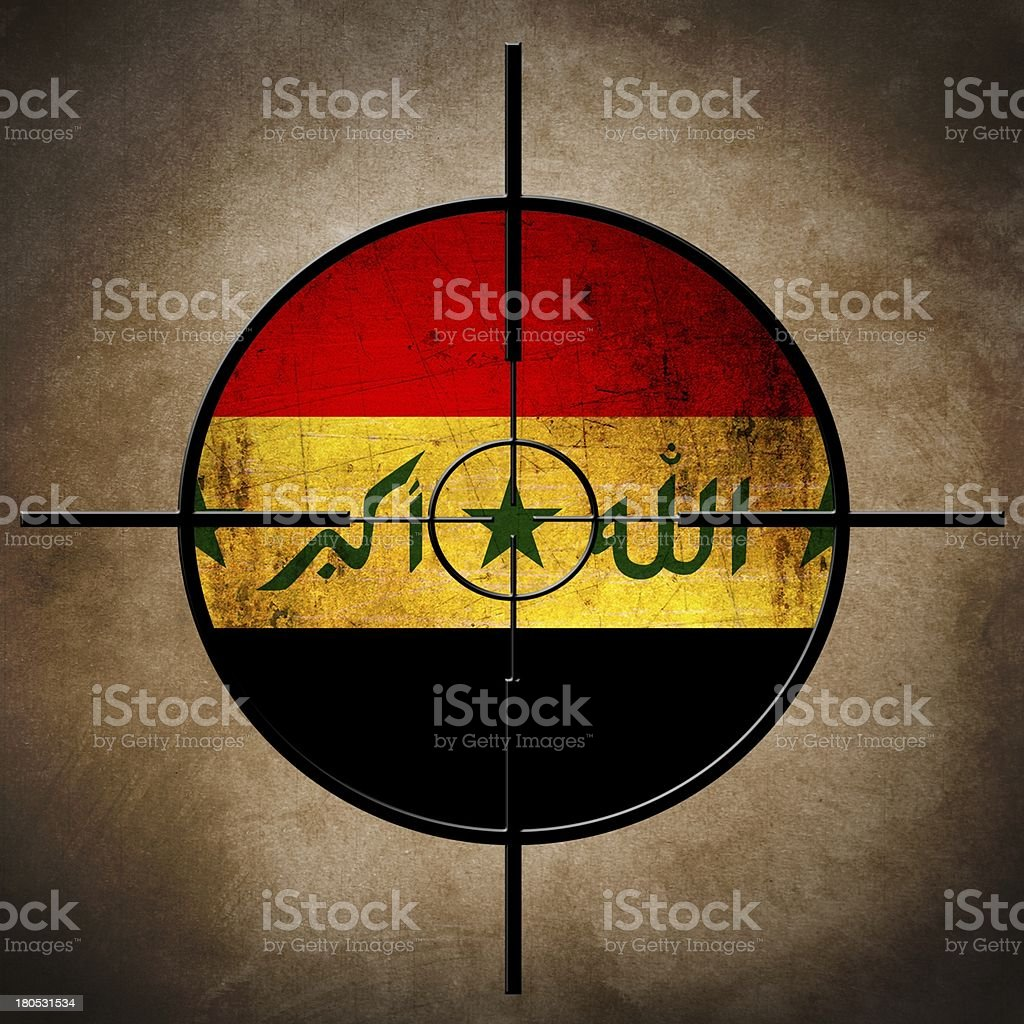 iraq flag target stock photo
