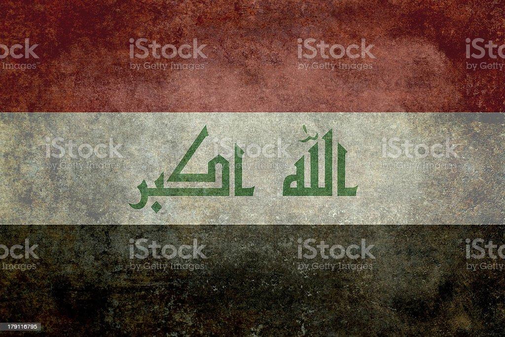 Iraq National Flag stock photo