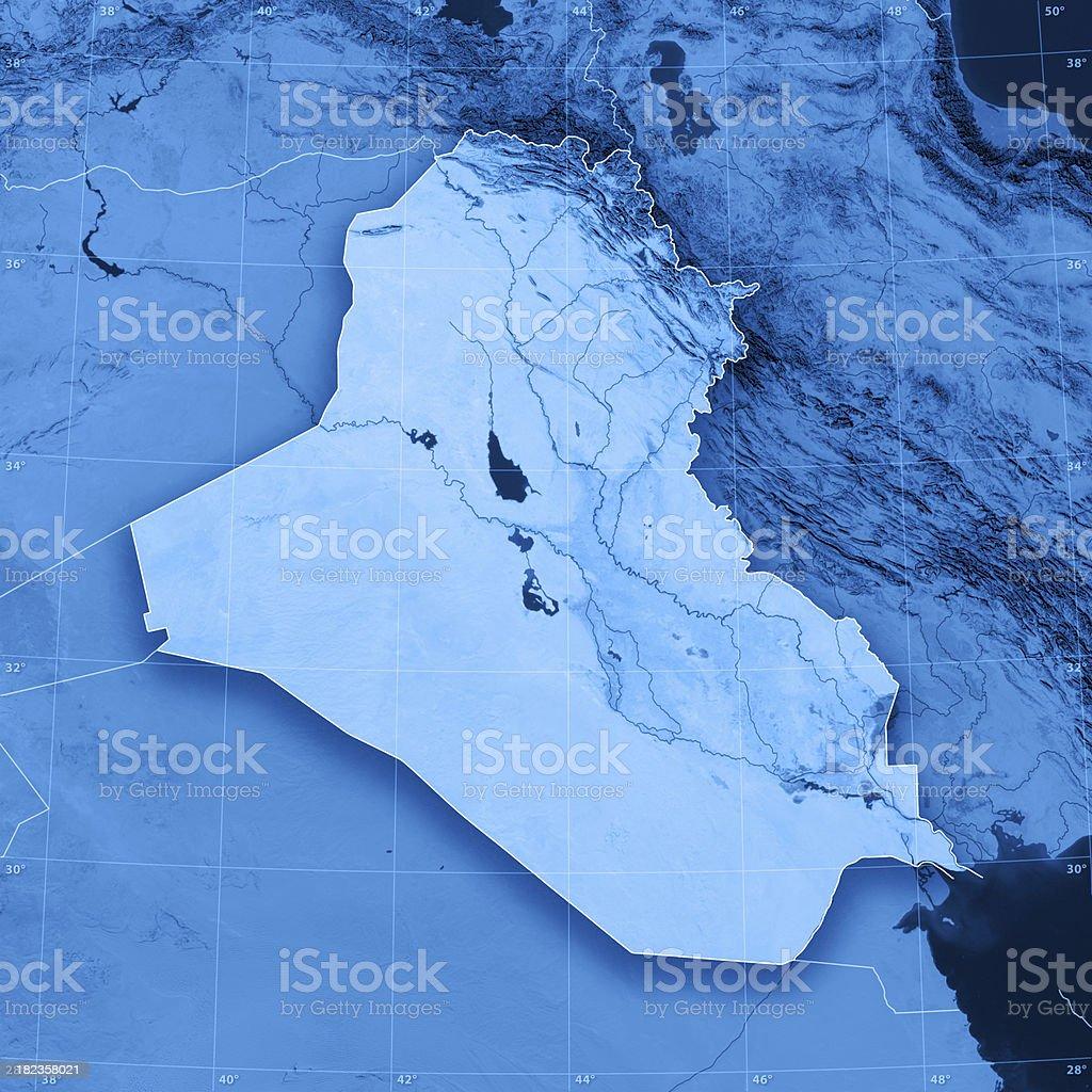 Iraq Topographic Map royalty-free stock photo