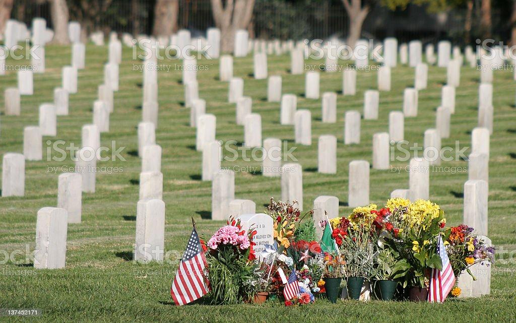 Iraq War Gravestones royalty-free stock photo