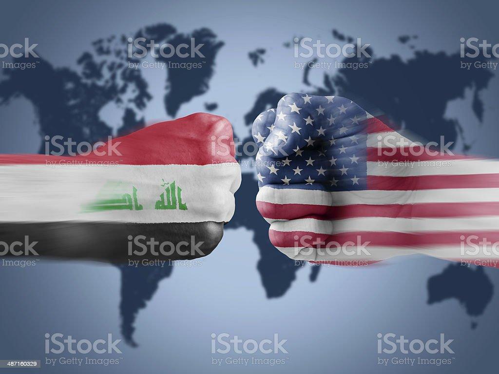 Iraq x USA stock photo