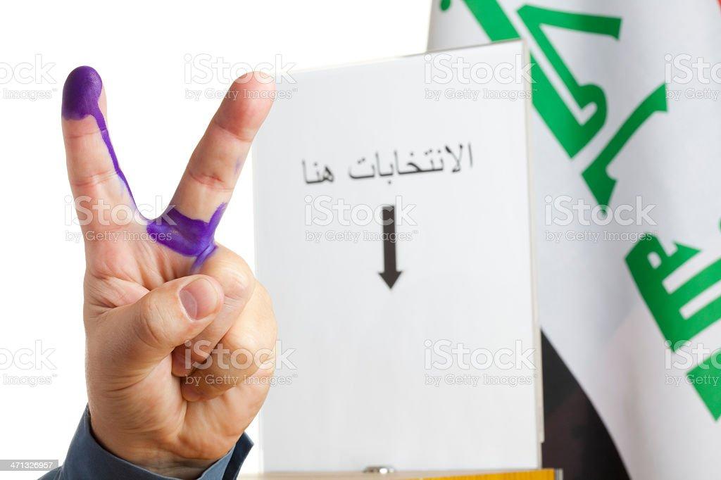 Iraqi democracy royalty-free stock photo