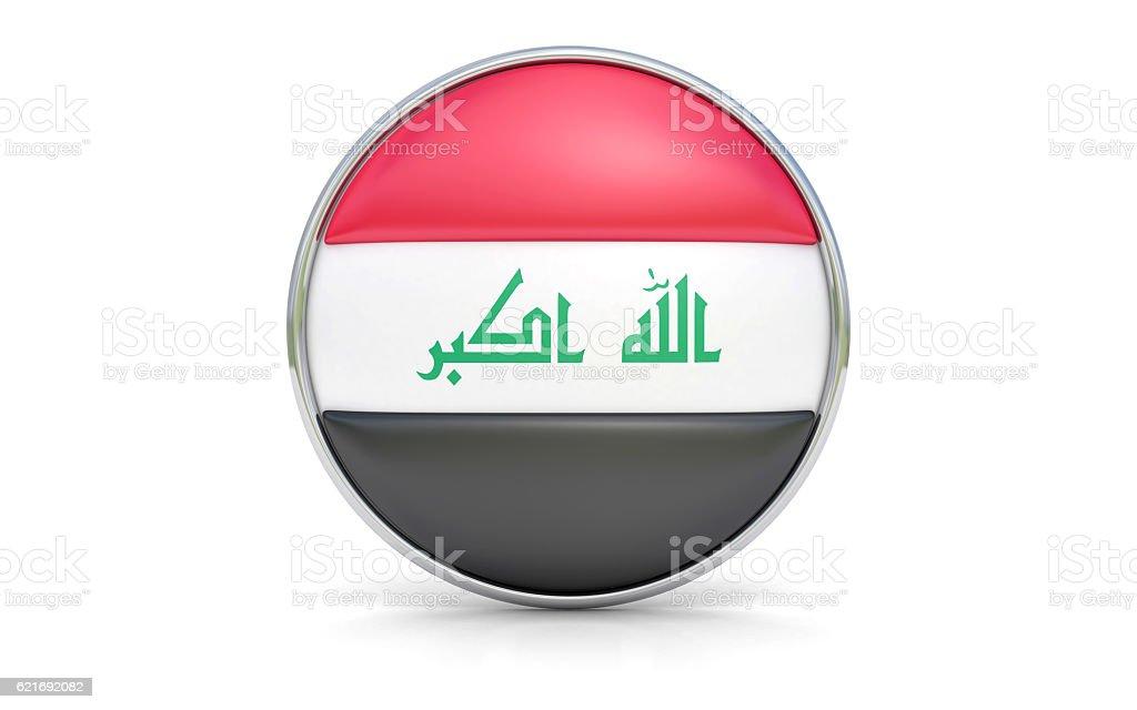 Iraqi flag stock photo