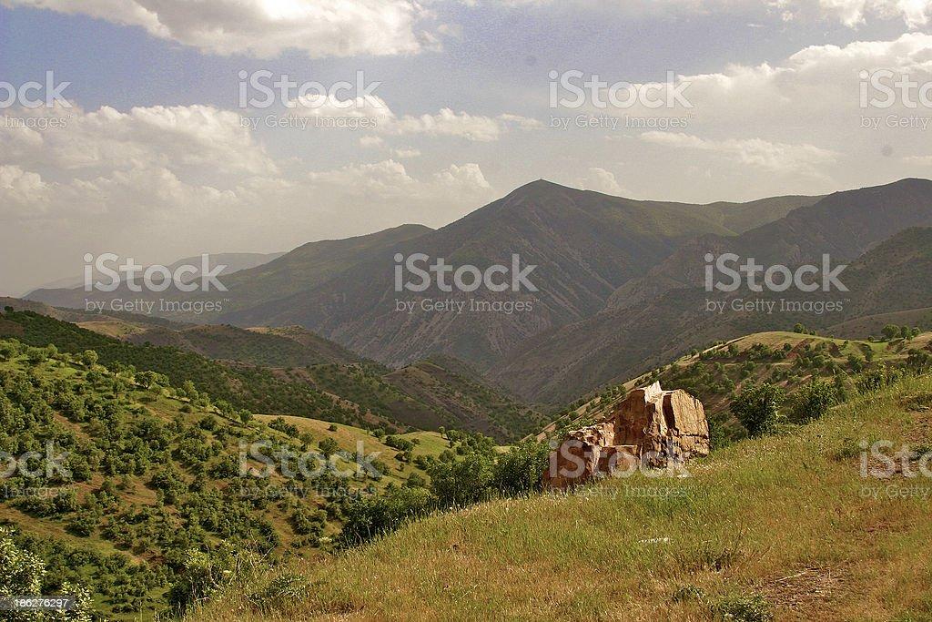 Iraqi mountains in autonomous Kurdistan region near Iran stock photo