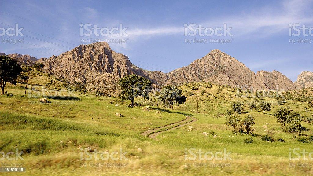 Iraqi mountains in Kurdistan day time stock photo