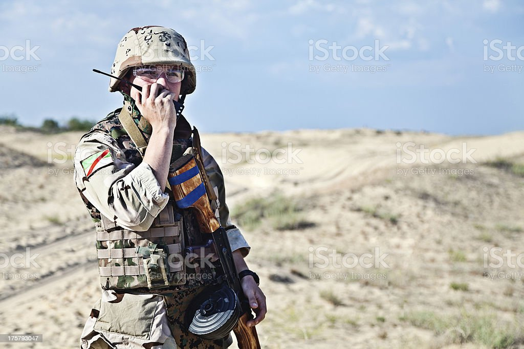 iraqi soldier stock photo