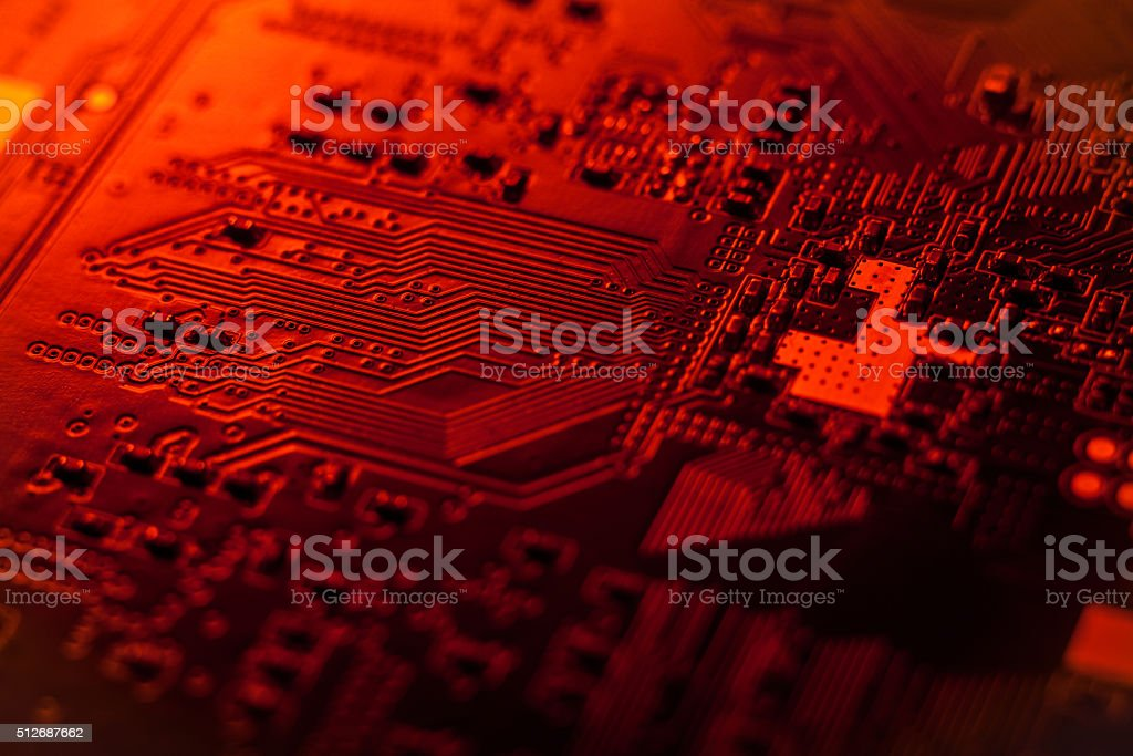 Сircuit board, SMT stock photo