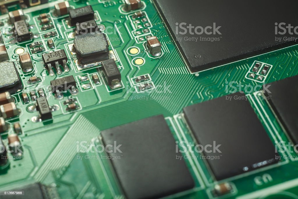 Сircuit board, SMT stock photo
