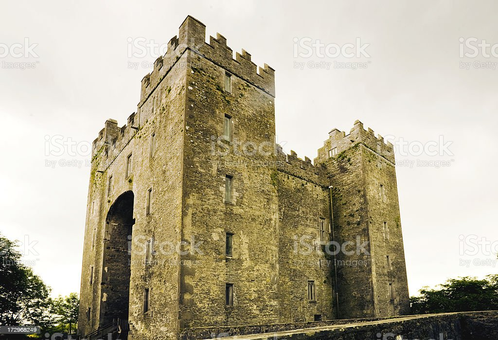 Ireland: Bunratty Castle in County Limerick stock photo