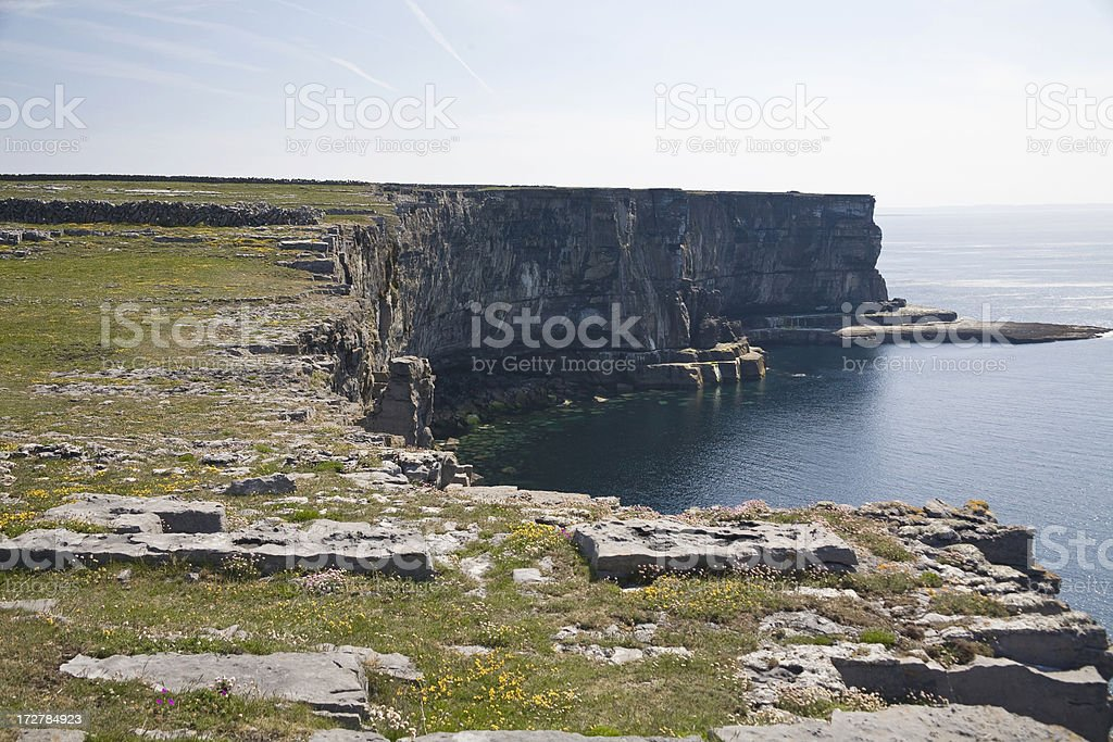 Ireland: Cliffs of Inis Mor, Aran Islands stock photo
