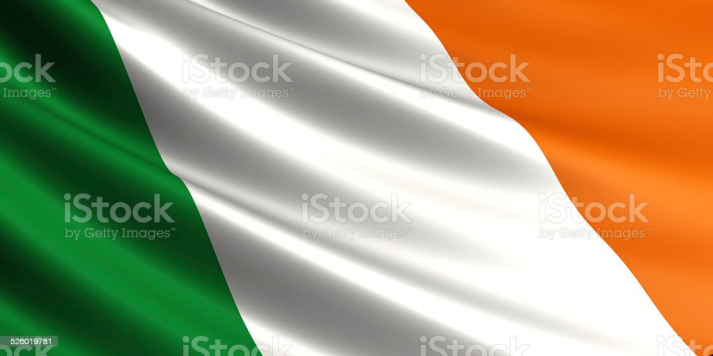 Ireland flag. royalty-free stock photo