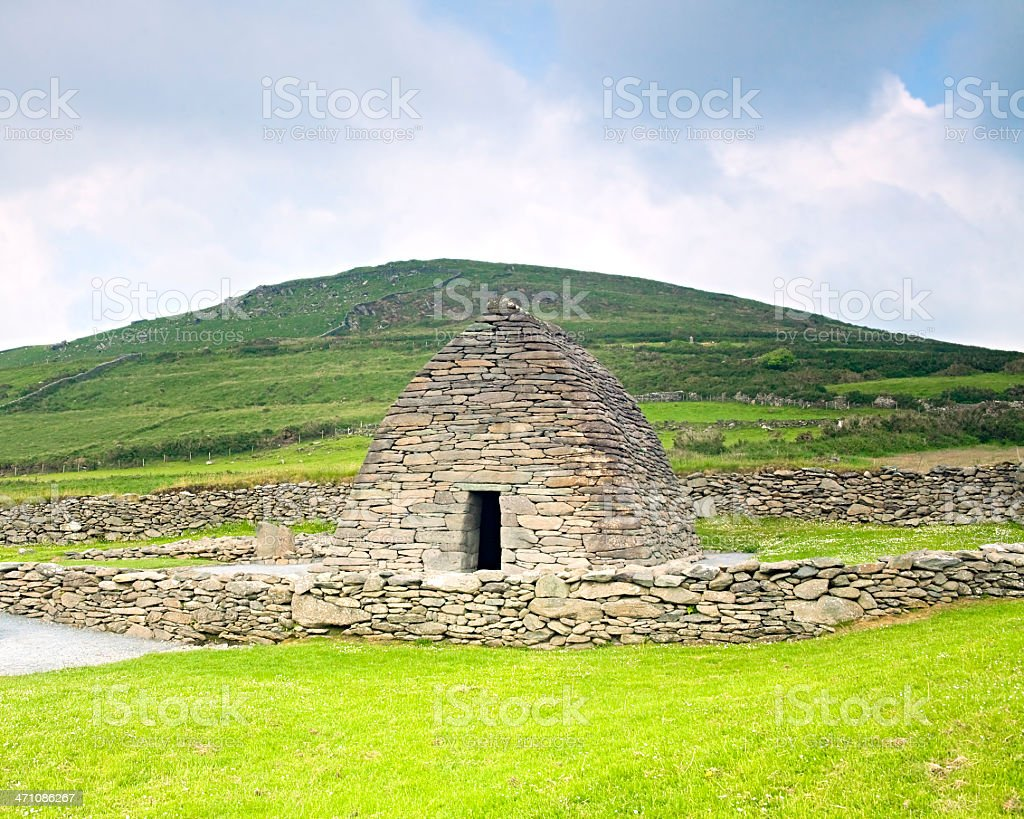 Ireland: Gallarus Oratory in County Kerry royalty-free stock photo
