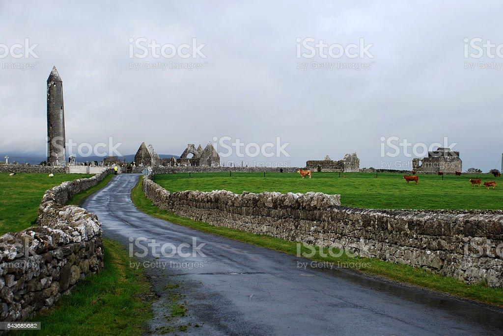 Ireland - Kilmacduagh Churches stock photo