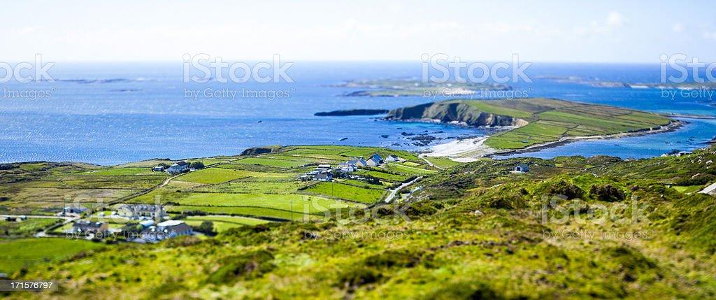 Beautiful view of the Atlantic Ocean in the region of Connemara in...