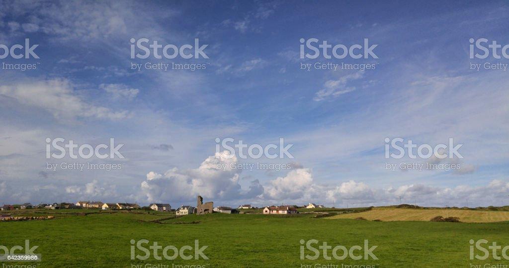 Doolin village landscape in County Clare, Ireland. Medieval...