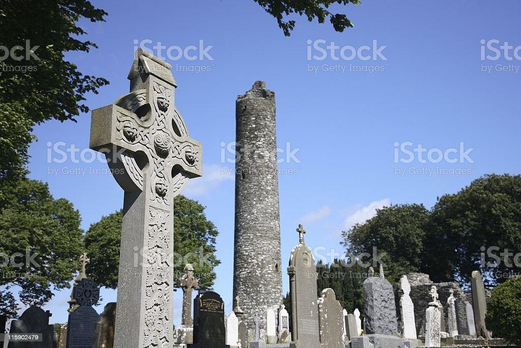 Irland Monasterboice Cross 1 stock photo