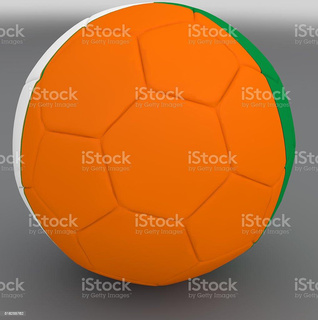 Ireland national ball stock photo