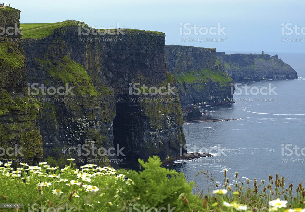 ireland west coast cliffs in county clare royalty-free stock photo