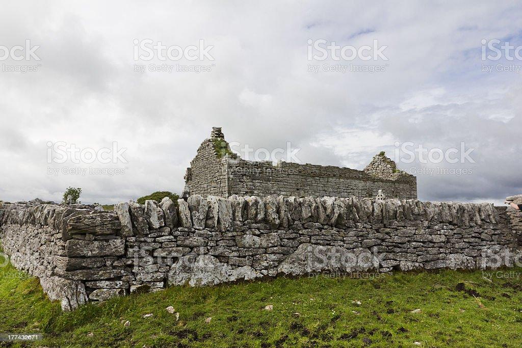 Ireland's 12th Century Carran Church royalty-free stock photo
