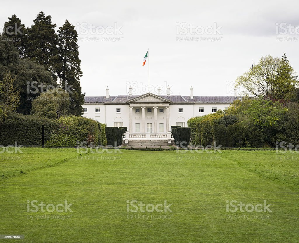 Ireland's Offical Presidential Residence royalty-free stock photo